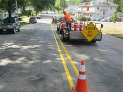 Road Crew Painting Street Lines